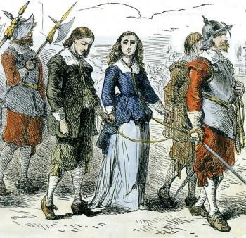 The Puritans leave England Many Puritans suffered persecution in England. Some were put in jail and whipped, their noses slit and their ears chopped off. Some fled England for Holland.