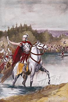 Caesar Crosses the Rubicon 49 BC Caesar marched on to face Pompey and to take control of the Senate