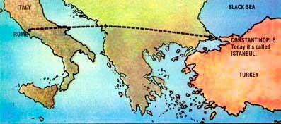 Constantinople Rome continued to decline Constantine moved the capital from