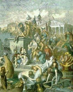 Vandals Vandals followed Visigoths and spent 12 days stripping Rome of valuables (vandalism) Many more German invaders
