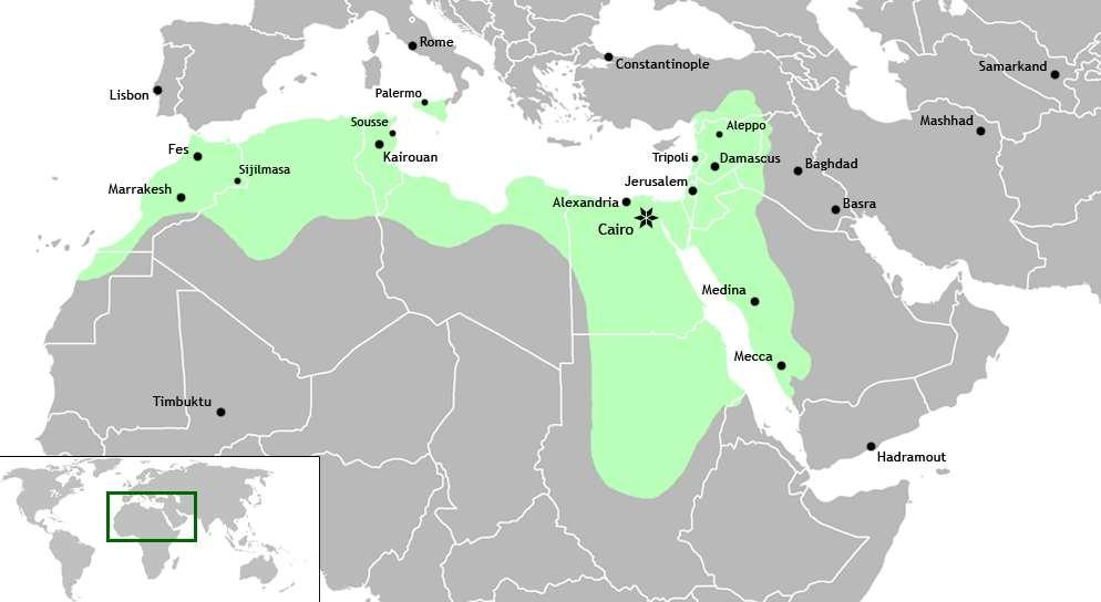 Extent of Islam under the