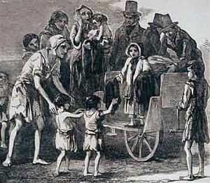 1845 THE GREAT IRISH FAMINE Period of mass starvation, disease and emigration Potato blight