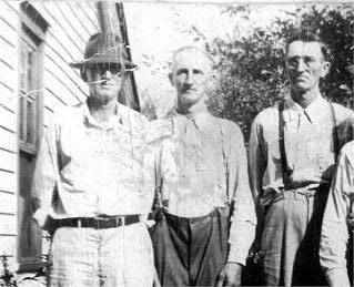 W. Daisy Vaughn b. 28 June 1883 d. 26 November 1972 (Pictured: Vaughn brothers about 1938: L to R: Verse Young Doc Vaughn; Ulysses S Vaughn; Russell Monroe Vaughn). He is survived by his wife, Mrs.