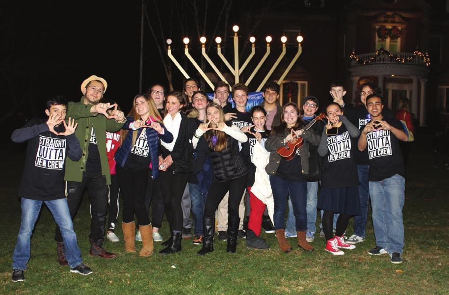 Most people were older 17 or 18. But by the end of the night, in true Sukkot spirit, everyone was sitting around the fire, talking like old friends.