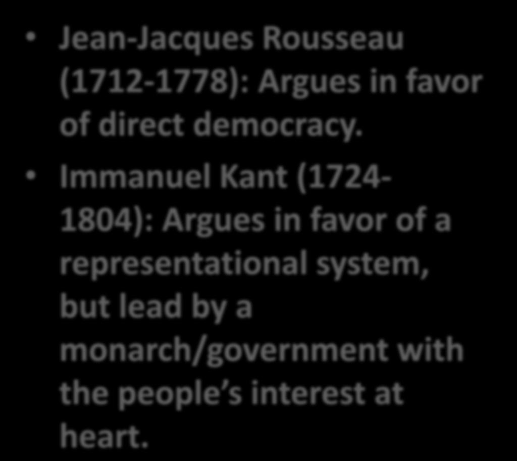 KEY PLAYERS IN SOCIAL CONTRACT THEORY Jean-Jacques Rousseau