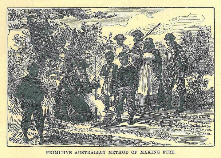 150 Journalists and Correspondents and Coranderrk Figure 5.3: Primitive Australian method of making fire. By our special artist, Mr. Melton Prior. (Source: The Illustrated London News, 12/1/1889, p.