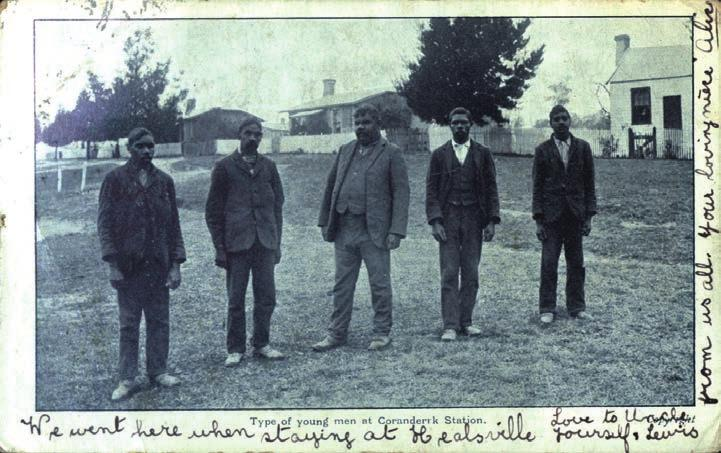 (Author s picture collection). Figure 7.3: Type of young men at Coranderrk Station. N.J. Caire photographer.