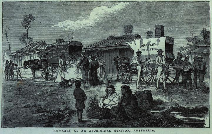 48 Tourism at Coranderrk Figure 2.8: Hawkers at an Aboriginal Station, Australia (The Pictorial World, 14/10/1876: 112).