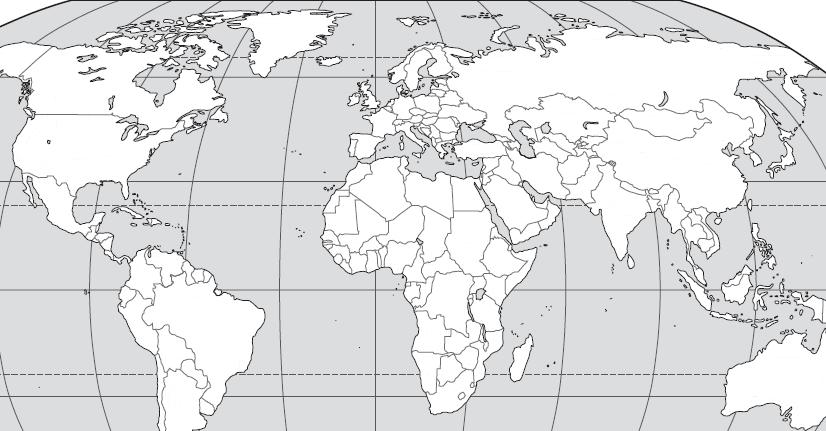 GEOGRAPHY: For this unit, you must know the location of the major civilizations in the world in 1500. On the map below, write the number which corresponds to the closest location of each civilization.