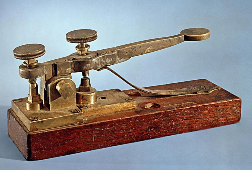 Morse developed electromagnetic telegraph: -