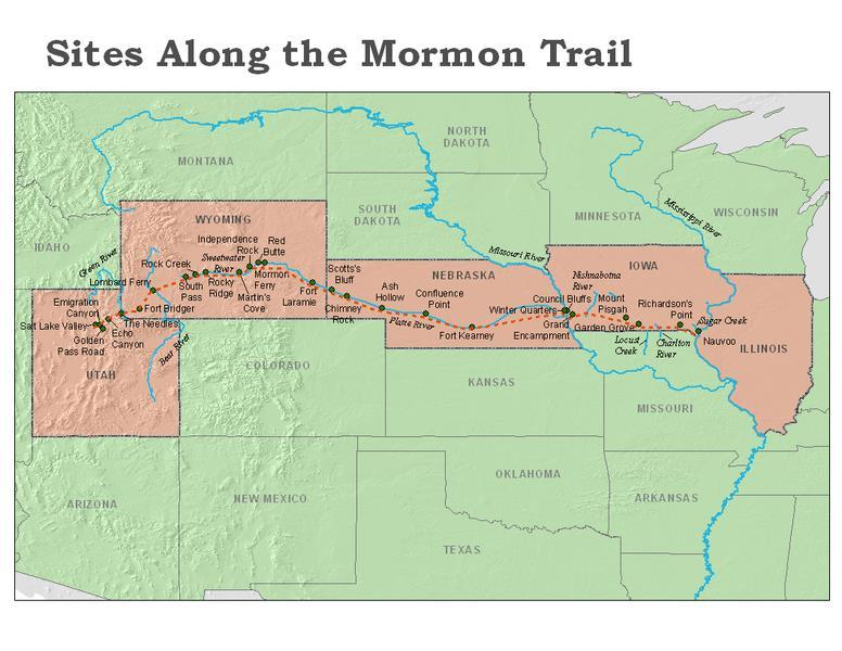 Much of the Mormon Trail followed,