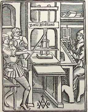 The Printing Press Enabled a printer to produce hundreds of copies of a single work.