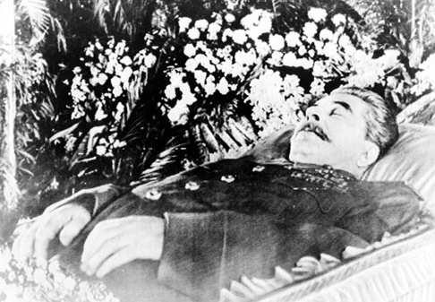 1953! Stalin dies from a brain hemorrhage.! The people of Russia grieve the loss of their leader.