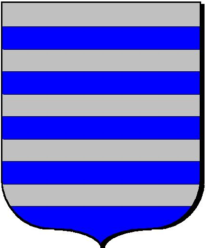 "Coat of Arm associated with Hughes IX, Seigneur de Lusignan. 24. Hughes IX, Seigneur 5 de Lusignan (André Roux: Scrolls, 84, 87.) (Paul Theroff, posts, 16 July 1994 at 16:00 Hours.). Also Known As: Hughes ""Le Brun."