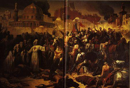 In July 1192, Saladin's army suddenly attacked and captured Jaffa with thousands of men, but Saladin had lost control of his army because of their anger for the massacre at Acre.