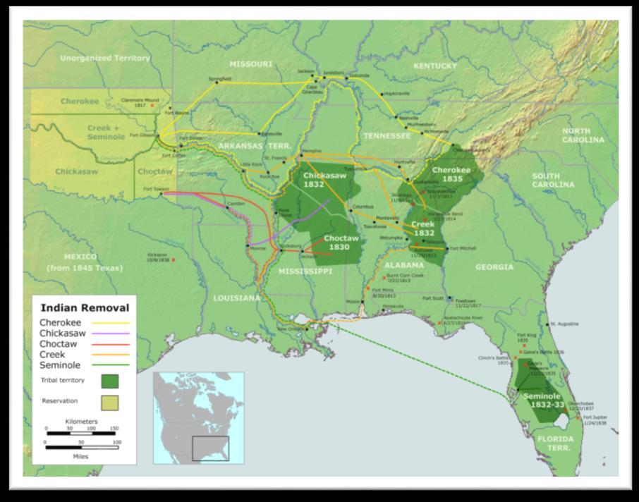 Indian Removal Act 1830 Urged by Jackson, Congress passed the Indian Removal Act Did not say that the NA should be removed by force Intention =
