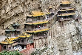 DAY 3 MON MAY 16: Datong - Hanging Monastery - Hengshan Wutaishan Transfer to visit Hanging Monastery (Xuan Kong Temple), which is built into a cliff 75m above the ground.