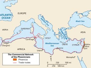 Phoenicians founded