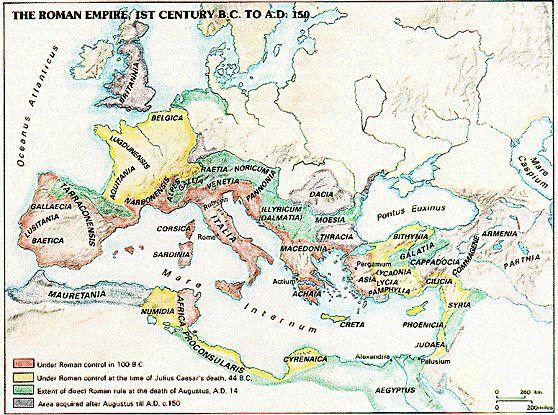 EARLY ROMANS - Not war like or prosperous - Essential link between trade routes - Divided into two