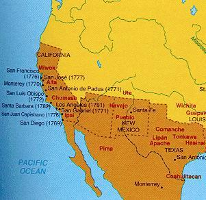There were Spanish settlements in New Mexico as early as the 1500s.