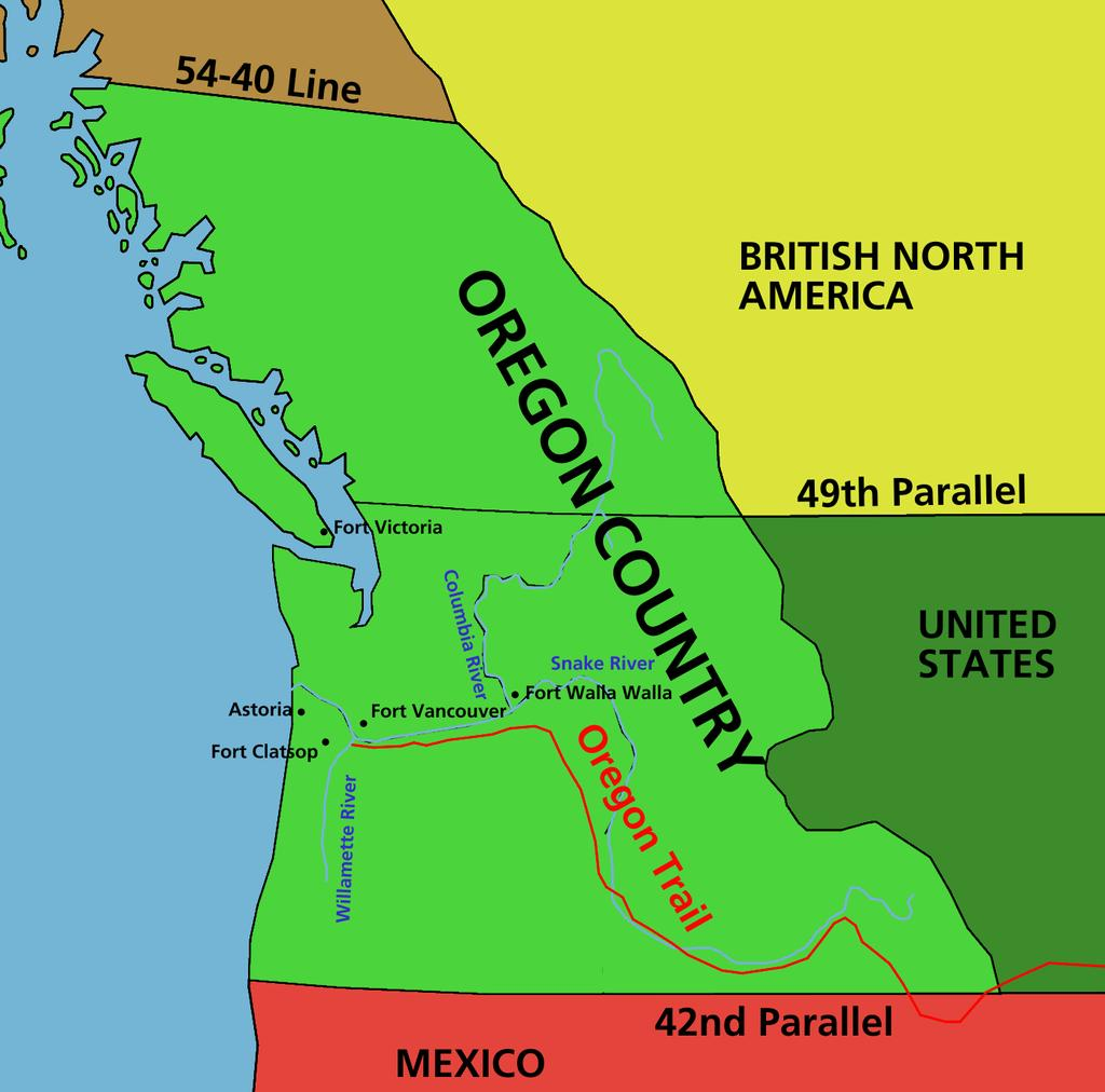 Oregon Country covered a huge area, and