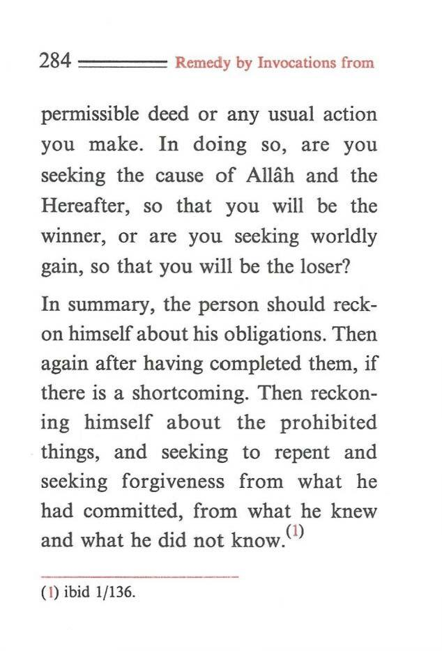 284 ==== Remedy by Invocations from permissible deed or any usual action you make.
