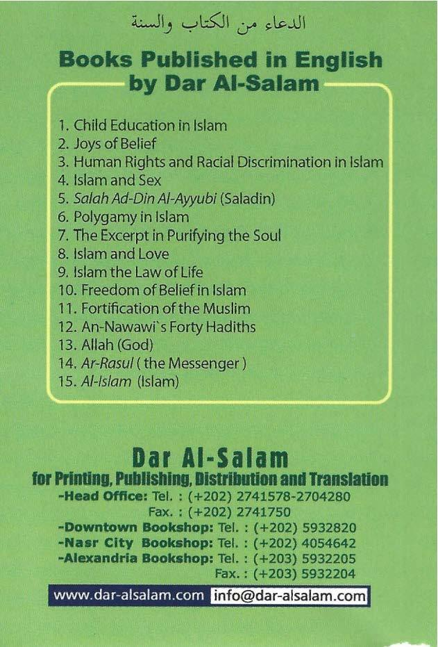 UIJ '-:-'l:s:ji,y ~~..JI Books Published in English,-:;;===by Dar Al-Salam==::-.. 1. Child Education in Islam 2. Joys of Belief 3. Human Rights and Racial Discrimination in Islam 4. Islam and Sex 5.