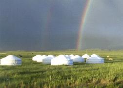Mongols Being Mongols Many still lived, ate, slept, and gave birth in yurts they put up everywhere Planted