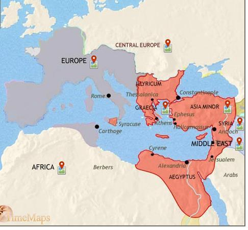 Within a few years a number of German-ruled The Roman Empire 410AD kingdoms had begun to appear within the western Roman provinces.
