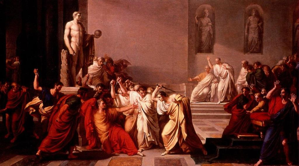 Julius Caesar was murdered by members of the Senate