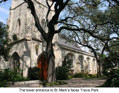 Architecture Immediately after organizing St. Mark s Church in 1858, Episcopalians in San Antonio set out to erect a building.