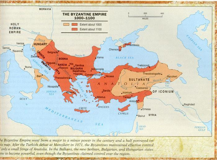 Decline The decline of the Byzantine empire came with the onset of invading armies.