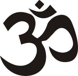 The Om, or Aum Hindu sound/symbol of worship.