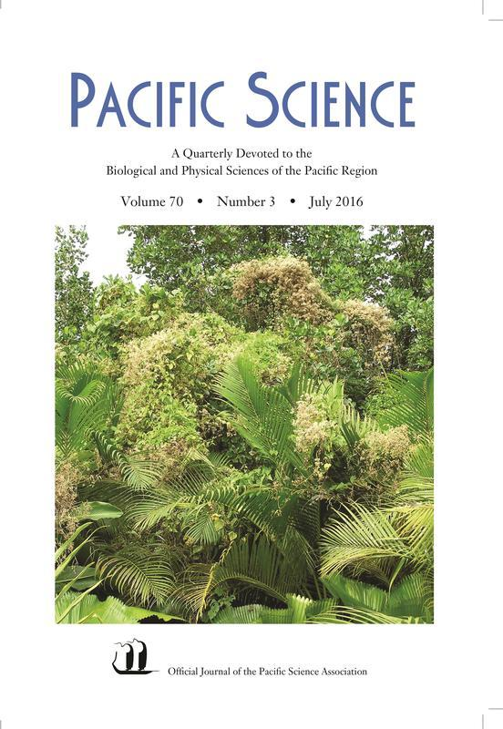 JOURNALS Pacific Science A Quarterly Devoted to the Biological and Physical Sciences of the Pacific Region CURTIS DAEHLER, EDITOR The official journal of the Pacific Science Association.