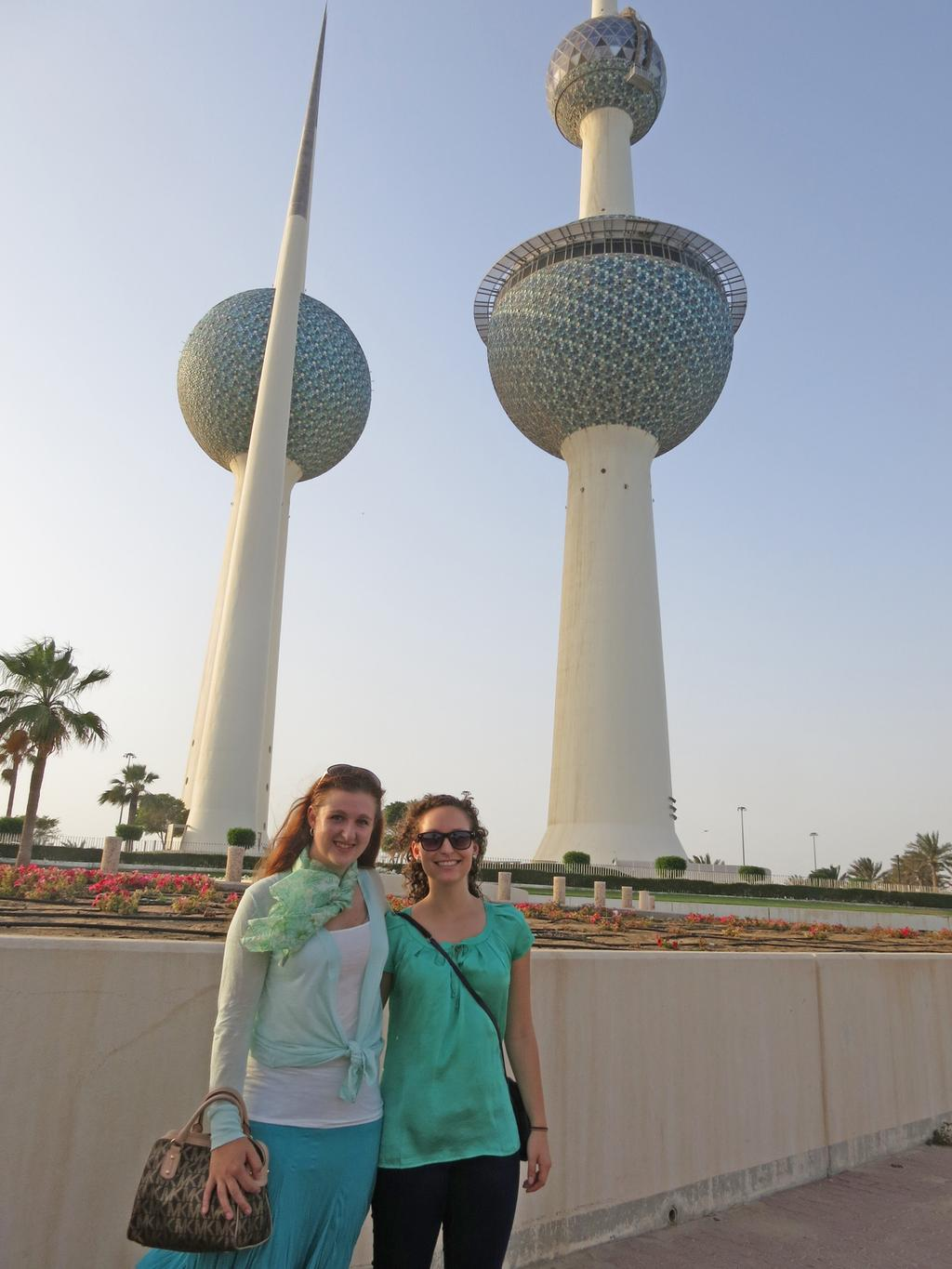 My experience in Kuwait was greatly enhanced by her presence, so I have to thank her for it here. We made a great team! Emily and me during an afternoon walk to Kuwait Towers.