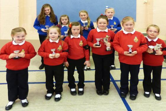 Perfect Attendance Cup Winners Junior and Explorer Top Squads for the Year Pictured are girls who