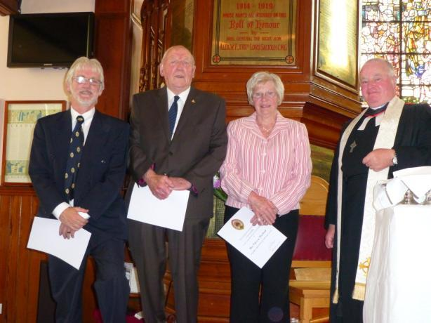 Elder Long Service Awards Three Elders of the Kirk Session, Mrs Patricia Muirhead, Mr James Buchan and Mr James Main were presented with Long Service Certificates at the June Communion Service in