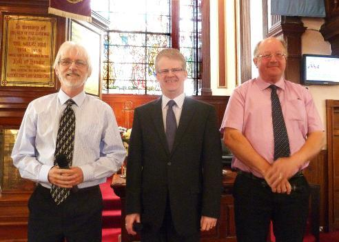 THE THREE TENORS IN CHURCH We enjoyed hearing our three tenors ( left to right ) James Buchan, Ronnie Birnie and Derek Carle singing in church as well as at our Hymn Sing Concert at the end of