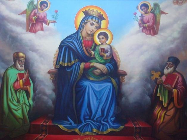 O our Lady, as St. Gabriel greeted you, Hail Mary, full of grace, the Lord is with you.