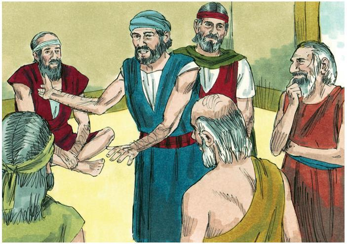 Then Moses and Aaron returned to Egypt and called all the elders of Israel together.