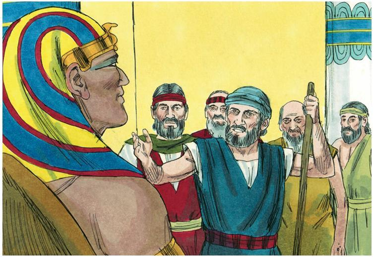 Moses and Aaron went and spoke to Pharaoh.