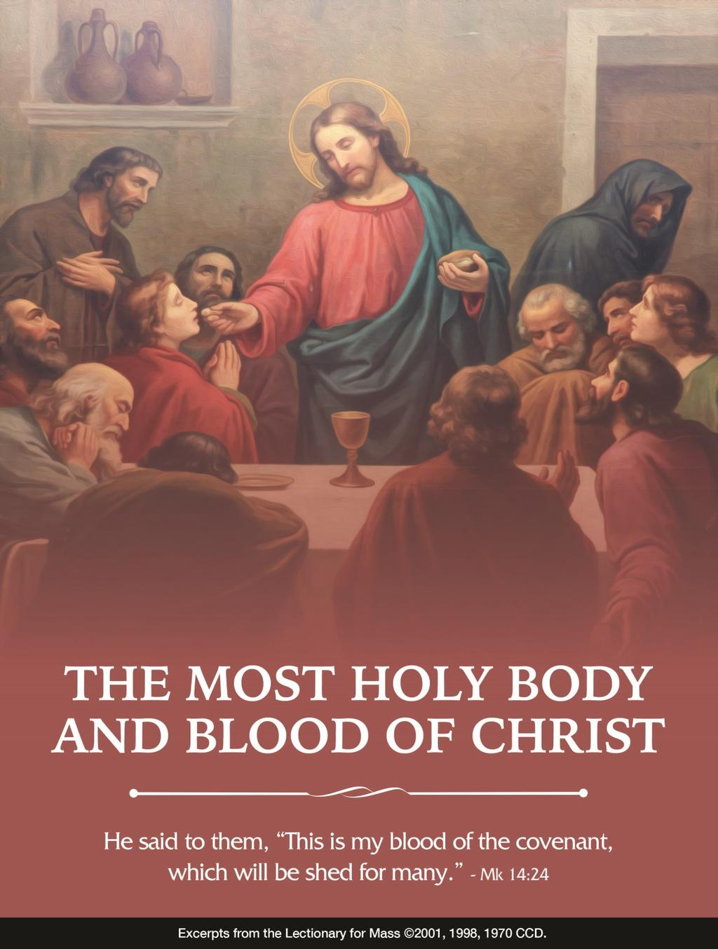 We have mentioned many times that all revolves around the Eucharist when we receive the real Body and Blood of the Lord.