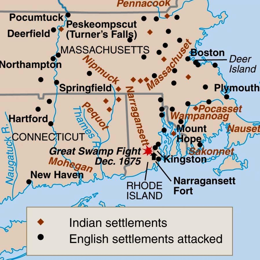 Puritans Versus Indians Epidemic leaves land ripe for Pilgrims Squanto translates for Wampanoag Massasoit signs peace treaty with Pilgrims Thanksgiving Pequot War