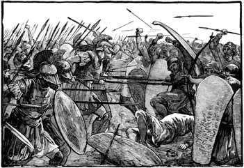 Defeated by Greeks in Persian Wars