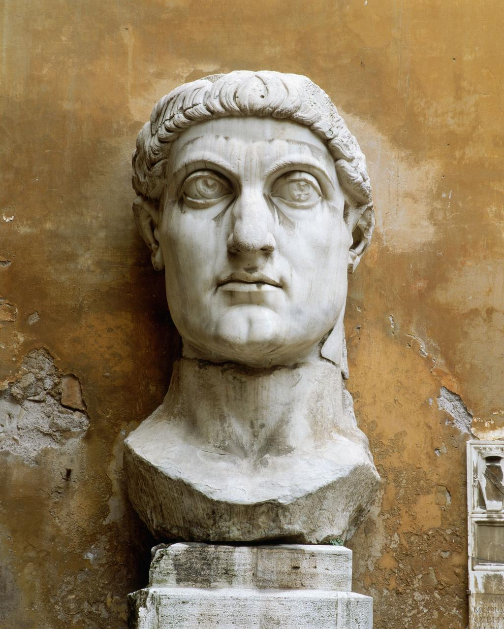 7. CONSTANTINE Conquers in battle and reunites the empire by promoting Christianity Moves capital from Rome to Byzantium in 324 CE in the east and renames it after himself: