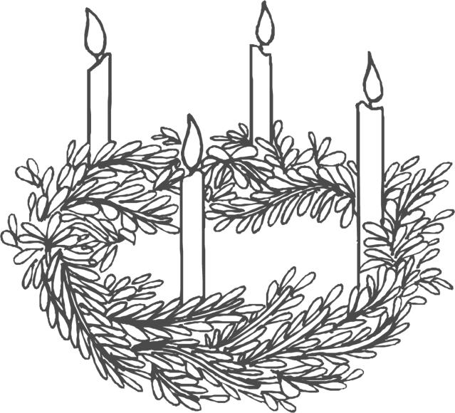 THE ADVENT WREATH is a Christian tradition that symbolises the passage of the four weeks of the season of Advent. It is a wreath usually made from evergreens, with four violet coloured candles.