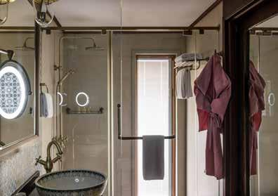 Expect L Occitane-stocked ensuite bathrooms, individually controlled air-conditioning and, naturally, consummate craftsmanship throughout.