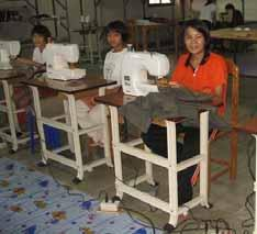setting up a vocational training centre at Agape Home in Chiang Mai, Thailand.