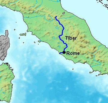 In the Beginning Ancient Rome began as a group of villages along the Tiber River in what is now Italy.