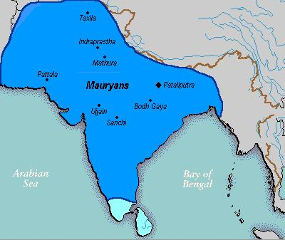 II. Imperial Expansion and Collapse, 324 B.C.E.- 650 C.E. A. The Mauryan Empire, 324 B.C.E.-184 B.C.E. 1. Founded by Chandragupta Maurya. A. brings smaller Aryan civilizations together 2.